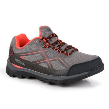 Women's Kota II Low Walking Shoes Rock Grey Fiery Coral