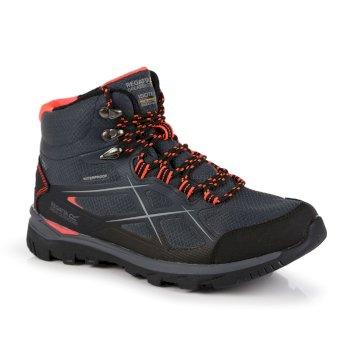 Women's Kota II Waterproof Mid Walking Boots Briar Grey Fiery Coral