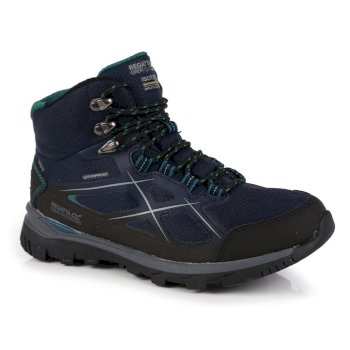 Women's Kota II Waterproof Mid Walking Boots Navy Shoreline Blue