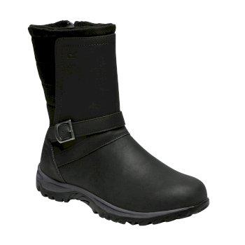 Women's Brunswick Leather Boots Black