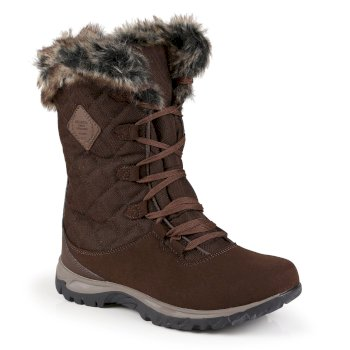 Women's Newley Faux Fur Trimmed Thermo Boots Chestnut