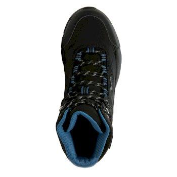 Women's Highton Stretch Mid Waterproof Walking Boots Black Sea Blue