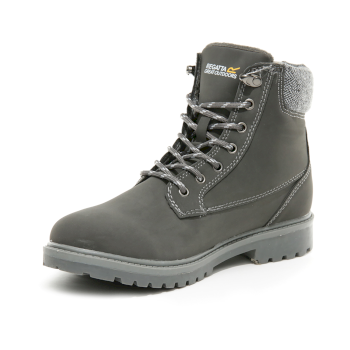 RWF678_2A2: Womens Bayley III Leather Insulated Casual Boots Granite