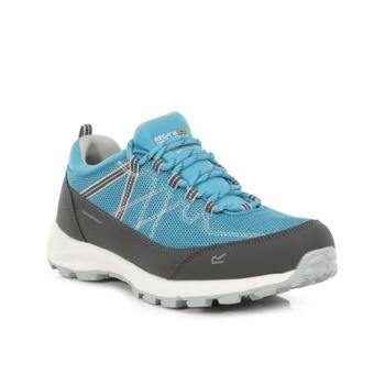 Women's Samaris Lite Waterproof Low Walking Shoes Niagra Blue Light Steel