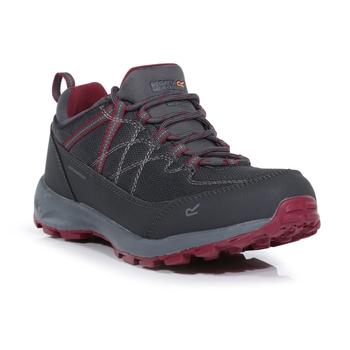 Women's Samaris Lite Waterproof Low Walking Shoes Granite Beetroot