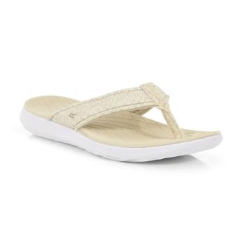 Women's Belle Lightweight Toe Post Sandals Natural Nutmeg Cream