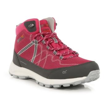 Women's Samaris Lite Waterproof Mid Walking Boots Cherry Pink Briar