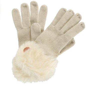 Adults Luz Cotton Jersey Knit Gloves Light Vanilla