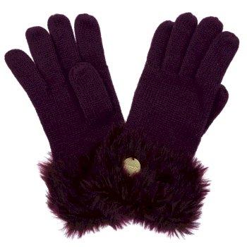 Adults Luz Cotton Jersey Knit Gloves Prune
