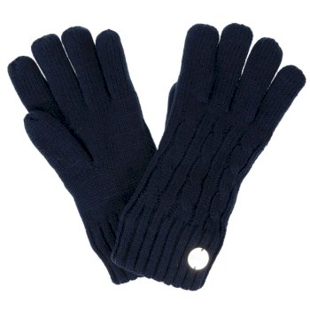 Multimix II Fleece Lined Cable Gloves Navy
