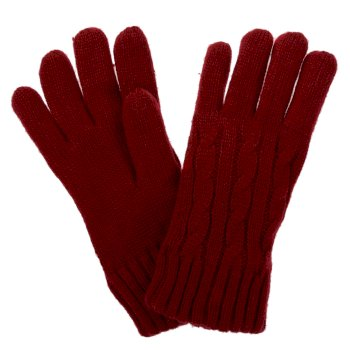 Multimix II Fleece Lined Cable Gloves Delhi Red