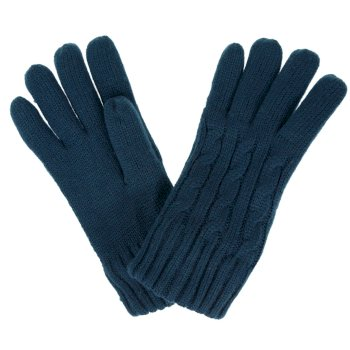 Multimix II Fleece Lined Cable Gloves Deep Teal