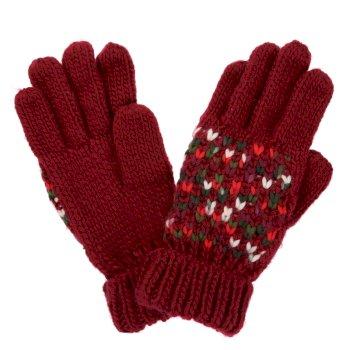 Women's Frosty III Knitted Gloves Delhi Red