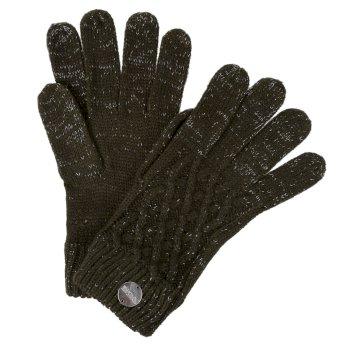 Women's Multimix III Knit Gloves Dark Khaki