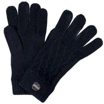 Women's Multimix III Acrylic Knit Diamond Gloves Navy
