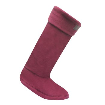 Women's Fleece Wellington Socks Socks Blackcurrant