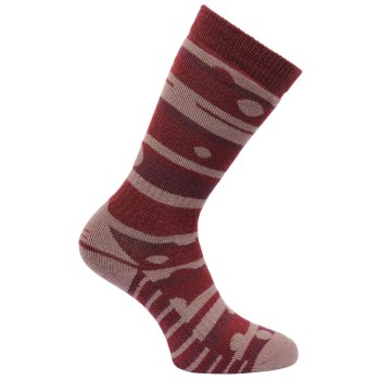 Women's Wellington Socks Dark Pimento Twilight Mauve