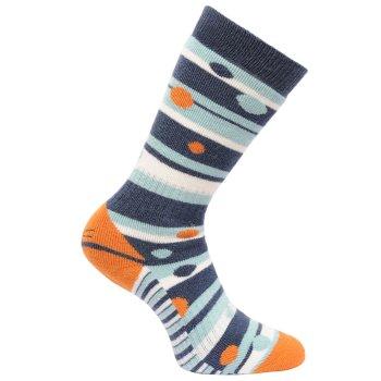 Women's Wellington Socks Dark Denim Golden Oak