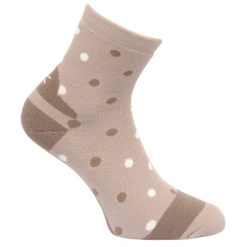 Women's 3 Pack Lifestyle Polka Dot Socks Barley Black Plum