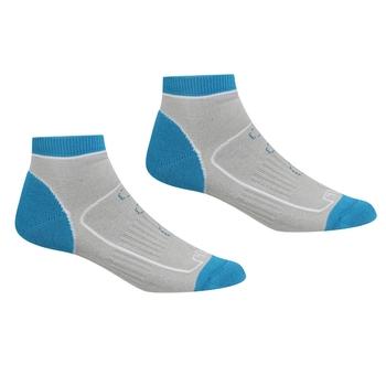 Women's Samaris Trail Socks Light Steel Niagra Blue