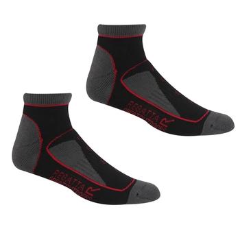 Women's Samaris Trail Socks Black Cherry Pink