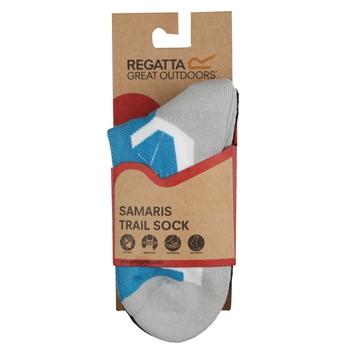 Women's 2 Pair Outdoor Active Socks Light Steel Niagra Blue