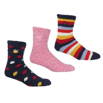 Women's 3 Pair Cosy Lounge Socks Navy Duchess