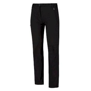 Women's Xert Stretch II Zip Off Hiking Trousers Black