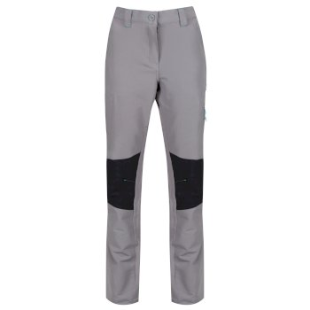 Women's Questra Stretch Softshell Trousers Rock Grey Black