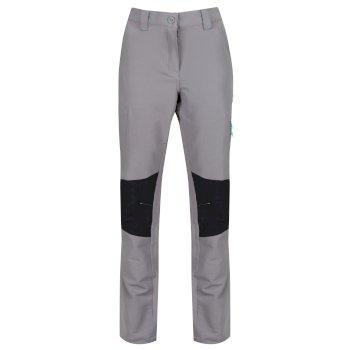Women's Questra Stretch Softshell Trousers Rock Grey Black