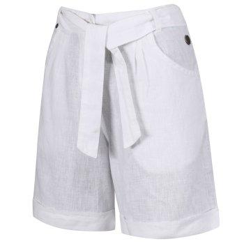 Women's Samarah Coolweave Cotton Shorts White
