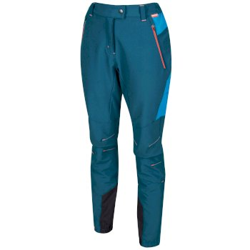 Women's Mountain Stretch Walking Trousers Moroccan Blue Reef