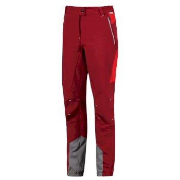 Women's Mountain Stretch Walking Trousers Tibetan Red