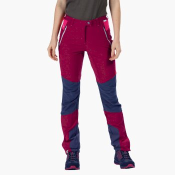 Women's Mountain Stretch Walking Trousers Beetroot Duchess Pink