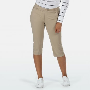 Women's Maleena II Casual Capri Pants Nutmeg Cream