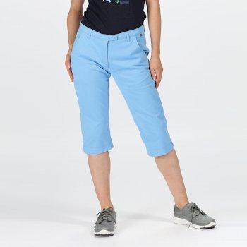 Women's Maleena II Casual Capri Trousers Blue Skies