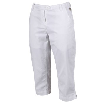 Women's Maleena II Casual Capri Trousers White