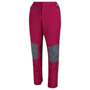 Women's Questra II Softshell Walking Trousers Beetroot Magnet Grey