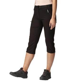 Women's Xert Stretch Light Capri Trousers Black