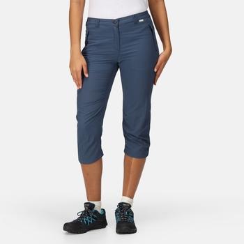 Women's Chaska II Capri Walking Trousers Dark Denim