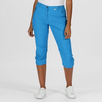 Women's Chaska II Capri Walking Trousers Blue Aster