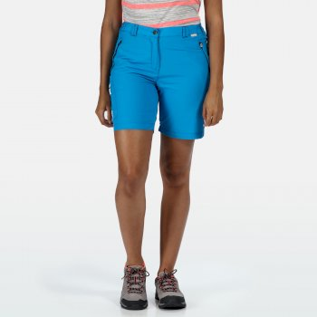 Women's Chaska II Walking Shorts Blue Aster