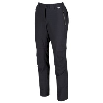 Women's Highton Zip Off Hiking Pants Seal Grey