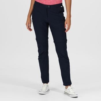 Women's Highton Zip Off Walking Trousers Dark Denim