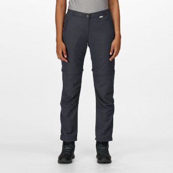 Women's Chaska II Zip Off Walking Trousers Seal Grey