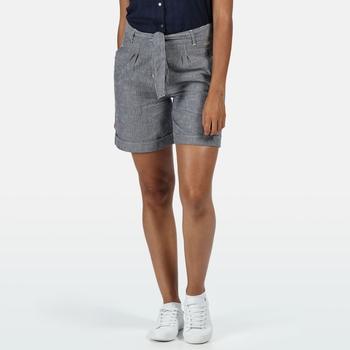 Women's Samora Casual Shorts Navy Stripe