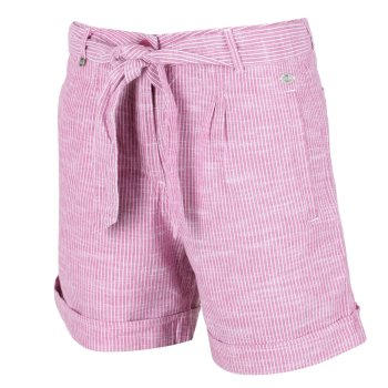 Women's Samora Casual Shorts Violet Stripe