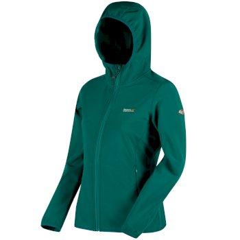 Women's Arec Stretch Hooded Softshell Jacket Deep Lake Atlantis