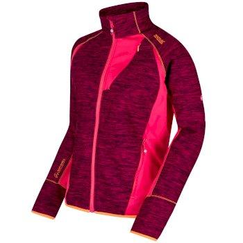 Catley II Hybrid Stretch Wind Resistant Softshell Jacket Dark Cerise Bright Blush Marl