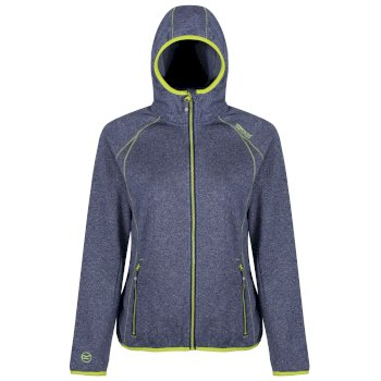 Women's Raisby Warm Backed Stretch Hooded Softshell Jacket Twilight Blue